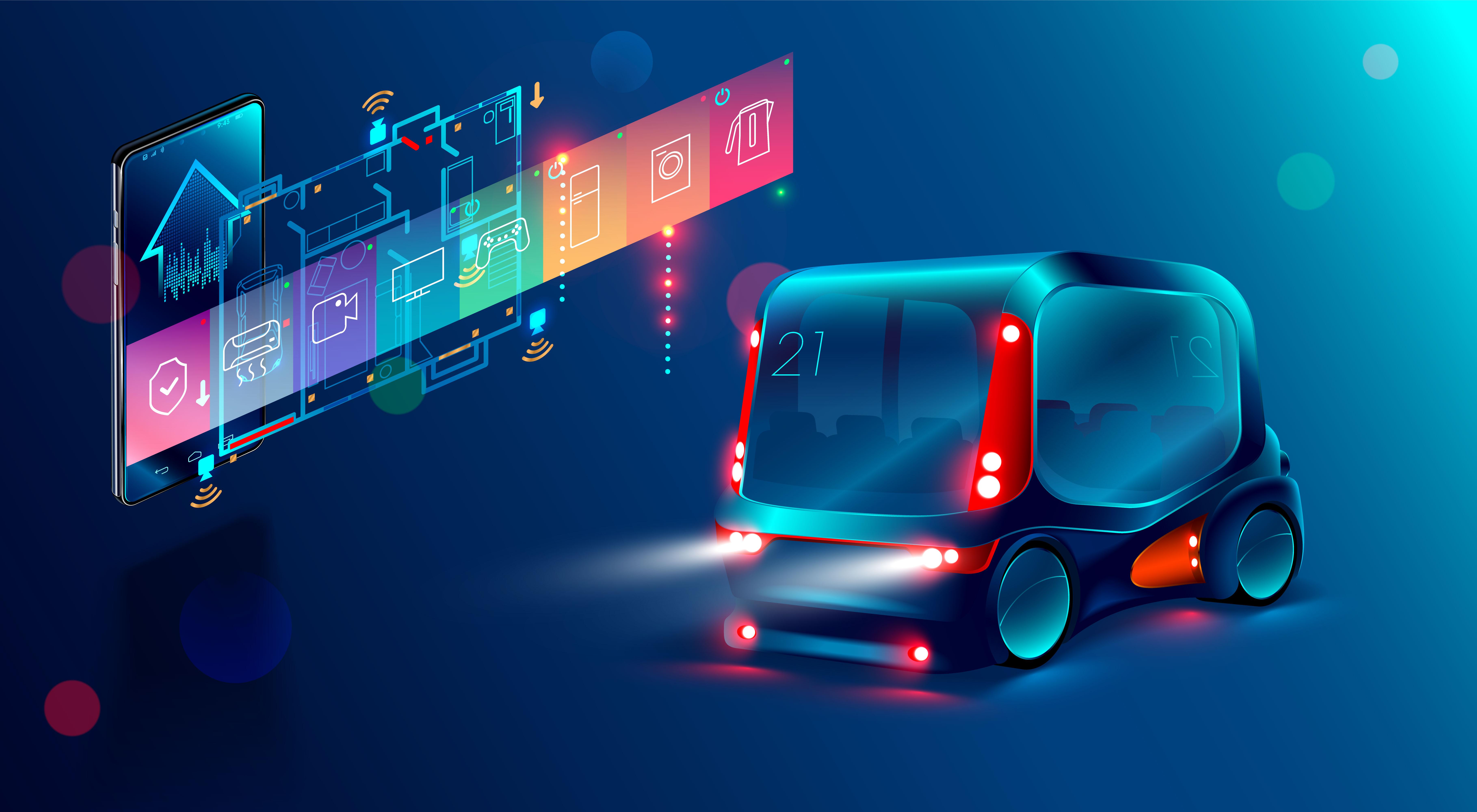 autonomiczny samochód tablica wyboru funkcji