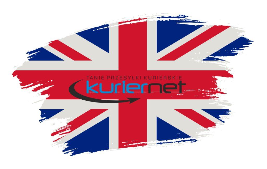 Mapa Wielkiej Brytanii z logiem Kuriernet