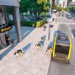 Autonimiczny pojazd dostarczający robo psy