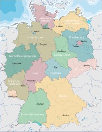 Mapa polityczna Niemiec
