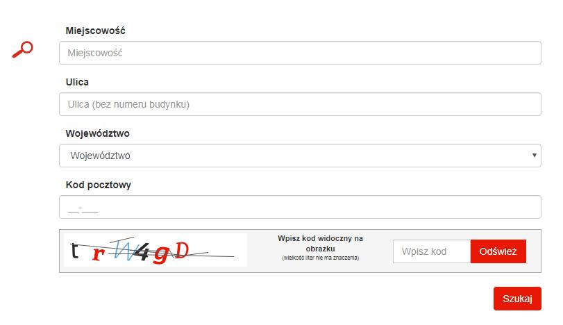 Aplikacja poczty polskiej doweryfikacji kodu pocztowego
