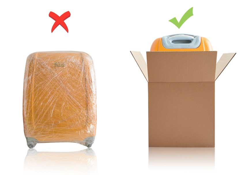 Jeżeli wysyłasz bagaż kurierem koniecznie zapakuj go wpudełko kartonowe oregularnym kształcie