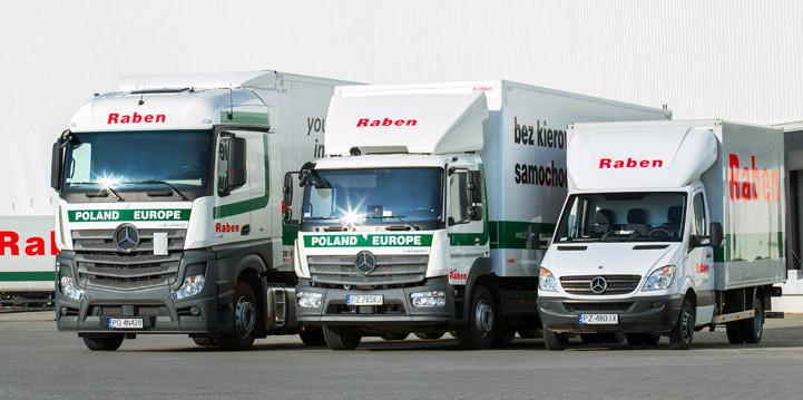 Transport międzynarodowy palet przezfirmę Raben