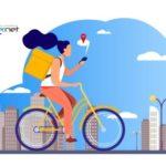 kurier na rowerze
