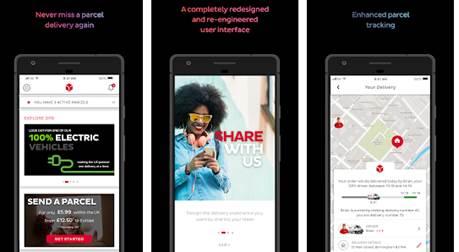 widok ekranów aplikacji mobilnej dpd